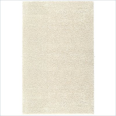 Coaster Solid Shag Rug in Starch