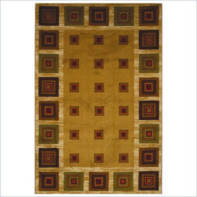 Coaster Cabin Blocks Pattern Rug