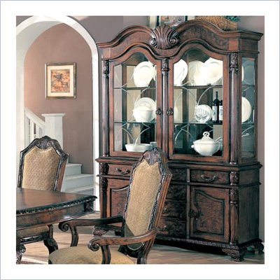 Coaster Saint Charles Buffet and Hutch in Deep Brown Finish