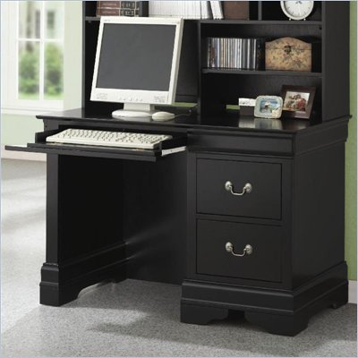 Coaster Saint Laurent Single Pedestal Computer Desk in Black