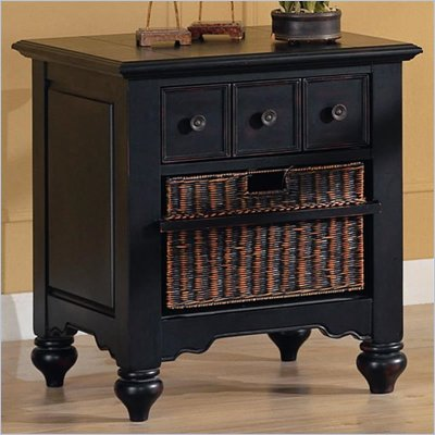 Coaster San Jose Casual End Table with Storage Basket in Warm Black Rub Finish