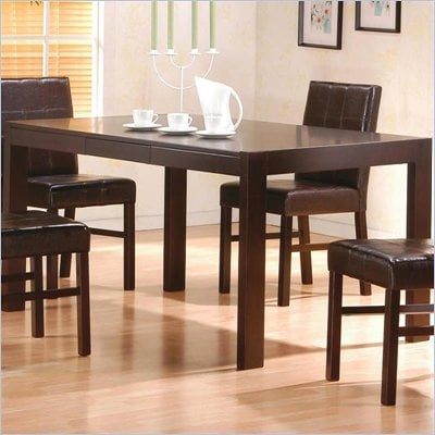 Coaster Shoemaker Contemporary Rectangular Dining Leg Table with Hidden Drawers 