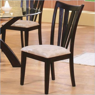 Coaster Shoemaker Contemporary Vertical Slat Side Chair with Fabric Seat