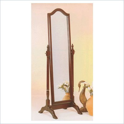 Coaster Rectangular Cheval Mirror in Mahogany