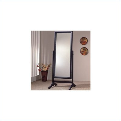Coaster Rectangular Grand Cheval Mirror in Black