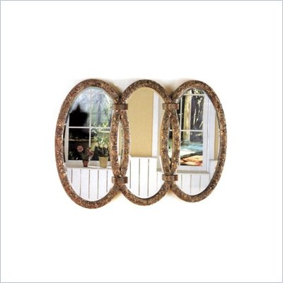 Coaster Triplet Mirror in Antique Bronze Finish