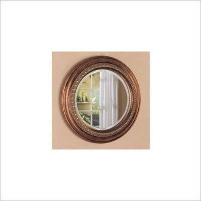 Coaster Bevelled Round Wall Mirror in Bronze Finish