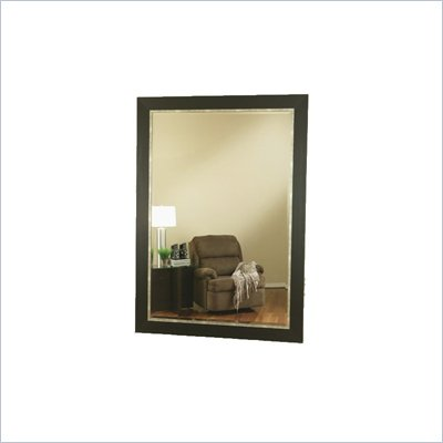 Coaster Contemporary Wide Rectangular Black and Silver Mirror