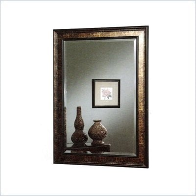 Coaster Wall Mirror with Black and Copper Frame