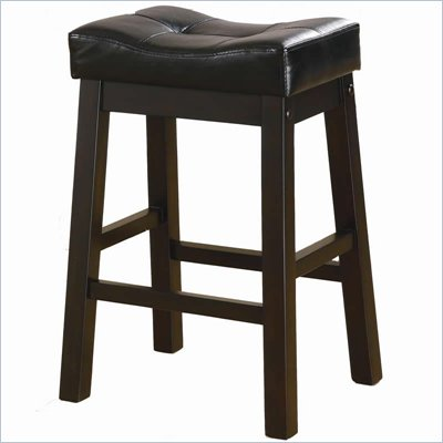 Coaster Sofie 24&quot; Upholstered Seat Bar Stool in Black