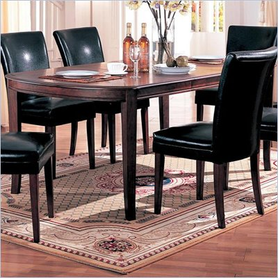 Coaster Soho Oval Dining Table with 18-inch Leaf in Cherry Finish