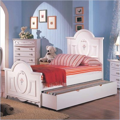 Coaster Sophie Panel Bed in Painted White Finish