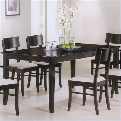Coaster Springs Rectangular Leg Dining Table with Leaf in Cappuccino