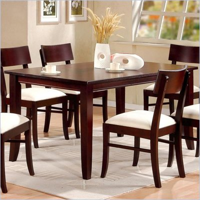 Coaster Springs Leg Dining Table in Cappuccino Finish