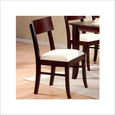 Coaster Springs Dining Side Chair with Fabric Seat in Cappuccino Finish