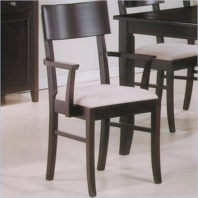 Coaster Springs Dining Arm Chair with Fabric Seat in Cappuccino Finish