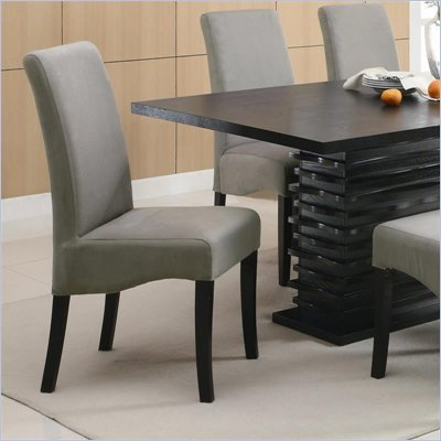 Coaster Stanton Rich Black Dining Side Chair in Gray
