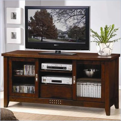 Coaster TV Stands Transitional Media Cosole with Doors and Shelves