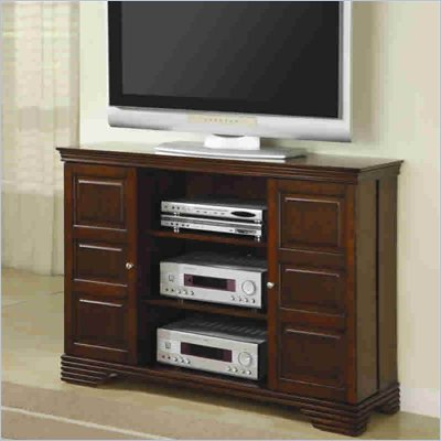 Coaster Dark Brown 50 Inch Classic Media Console with Doors and Shelves