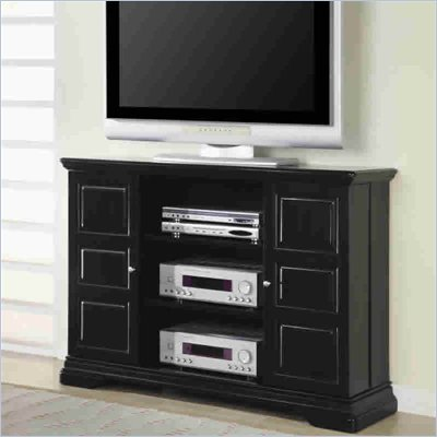 Coaster Black 50 Inch Classic Media Console with Doors and Shelves