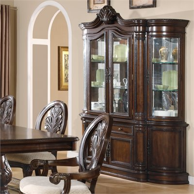 Coaster Tabitha Traditional China Cabinet in Cherry Finish
