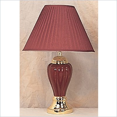 Coaster Pumpkin Shaped Table Lamp in Red