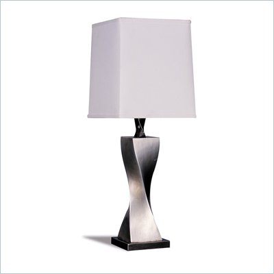 Coaster Twisted Base Table Lamp in Silver