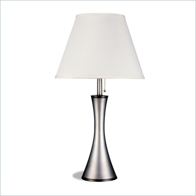 Coaster Vase Style Base Lamp in Silver