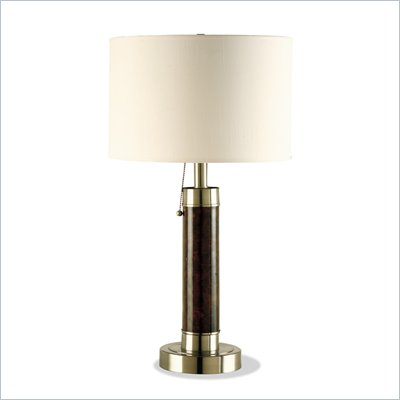 Coaster Table Lamp in Cappuccino and Satin Nickel