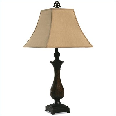 Coaster Fabric Shade Table Lamp in Tan Fabric