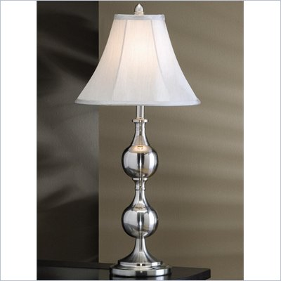 Coaster Fabric Shade Table Lamp in White