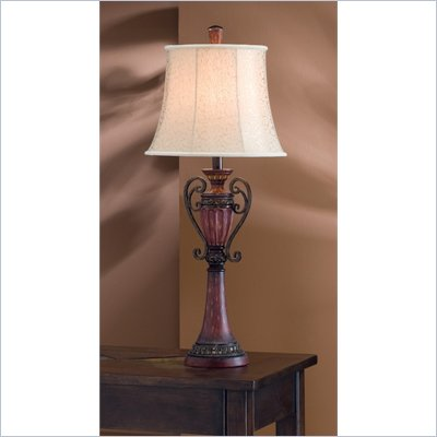 Coaster Traditional Style Table Lamp in Mahogany