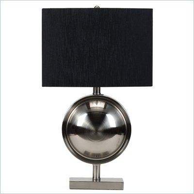 Coaster Contemporary Table Lamp in Brushed Metal