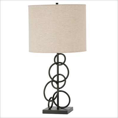 Coaster Ring Design Base Table Lamp in Bronze