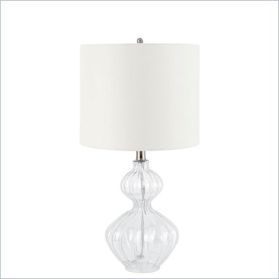 Coaster Ribbed Glass Base Table Lamp