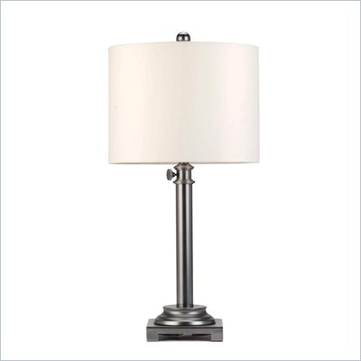 Coaster Adjustable Table Lamp in Gun Metal