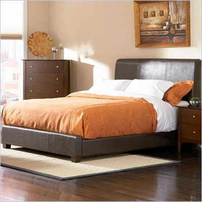 Coaster Tamara Faux Leather Upholstered Bed in Walnut Finish