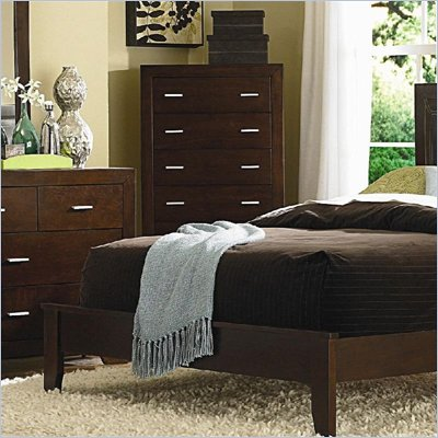 Coaster Tiffany Drawer Chest in Deep Brown Finish