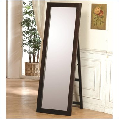 Coaster Ventura Standing Floor Mirror Rich Dark Cappuccino Finish
