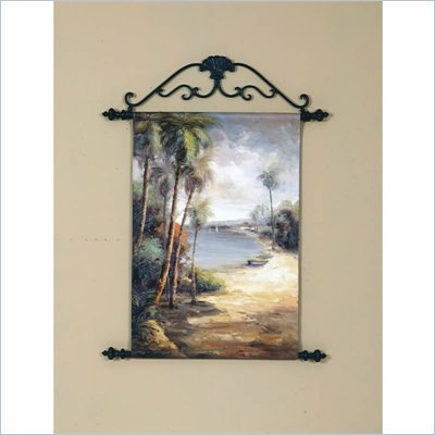 Coaster Wall Art Painting - Palm Trees at the Shore