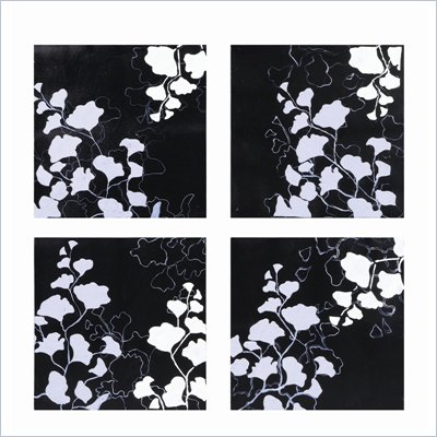 Coaster 4-Piece Wall Art - Wintery Leaves 