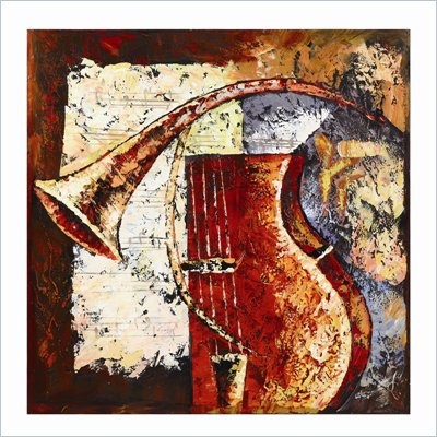 Coaster Wall Art Painting - Trumpets-A-Blazing