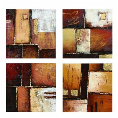 Coaster 4-Piece Wall Art - Earth Tones