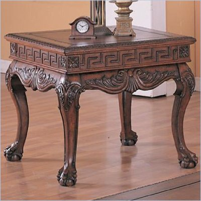 Coaster Wilshire Square End Table in Dark Brown Finish