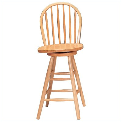 Coaster Woodlawn 24&quot; Swivel Windsor Bar Stool in Light Natural