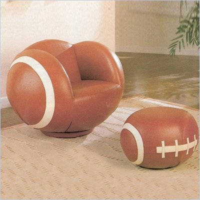 Coaster Kids Football Chair and Ottoman