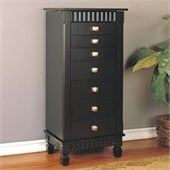 Powell Merlot Contemporary Jewelry Armoire