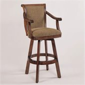 Powell Furniture 30 Inch Brandon Warm Cherry Swivel Bar Stool