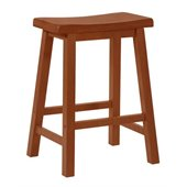 Powell Furniture Honey Brown Counter Stool with 24 Seat