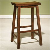 Powell Furniture Honey Brown Bar Stool with 29 Seat